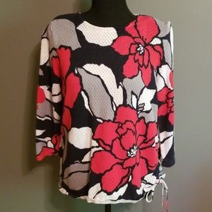 Alfred Dunner Sweaters - Alfred Dunner Floral Sweater